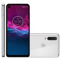 Smartphone Motorola One Action 128GB 4G Tela 6.3'' Dual Chip 4GB RAM Câmera Tripla + Selfie 12MP Branco -