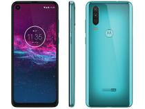 "Smartphone Motorola One Action 128GB Aqua Marine  - 4G 4GB RAM 6,34"" Câm. Tripla + Câm. Selfie 12MP"