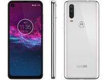 "Smartphone Motorola One Action 128GB Branco 4G - 4GB RAM 6,34"" Câm. Tripla + Câm. Selfie 12MP -"
