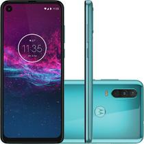 Smartphone Motorola One Action 128GB Tela 6.3 4G Câmera 12+5+16MP (Quad Pixe) - Aquamarine -