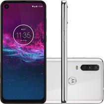 Smartphone Motorola One Action 128GB Tela 6.3 4G Câmera 12+5+16MP (Quad Pixe) - Branco Polar -