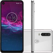 "Smartphone Motorola One Action 128GB Tela 6.3"" Câmera Tripla + Frontal 12MP  Branco Polar -"