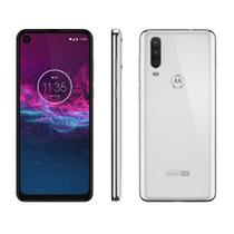 "Smartphone Motorola One Action XT2013-1 Branco, 128GB, 4GB RAM, Tela de 6.3"", Octa-Core, Leitor Digi -"