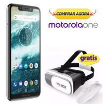Smartphone Motorola One Branco XT1941-3 + Óculos Realidade Virtual 3d -