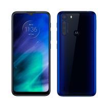 "Smartphone Motorola One Fusion Azul Safira, Tela 6.5"", 4G+Wi-Fi, Android, Câm.Traseira 48 + 8 + 5 + 2 MP, Frontal 8MP, 128GB -"