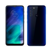 "Smartphone Motorola One Fusion Azul Safira,Tela6.5"",Câm.Traseira 48 + 8 + 5 + 2 MP,Frontal 8MP,128GB -"