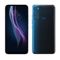 "Smartphone Motorola One Fusion Plus  Azul, Tela 6.5"", 4G+Wi-Fi, Android, Câm.Traseira 64 + 8 + 5 + 2 MP, Frontal 16MP, 128GB -"
