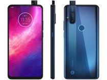 "Smartphone Motorola One Hyper 128GB - 4G 4GB RAM Tela 6.5"" Octa-Core Câmera Dupla 64 MP + 8 MP + Câmera Selfie 32MP - Azul Oceano -"