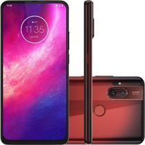 """Smartphone Motorola One Hyper Dual Chip Tela 6.5"""" 128GB 4G Câmera 64MP + 8MP - Vermelho Âmbar -"""