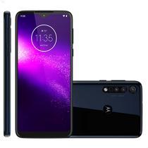 Smartphone Motorola One Macro 64GB 4G Tela 6.2'' Dual Chip 4GB RAM Câmera Tripla + Selfie 8MP - Azul Espacial -