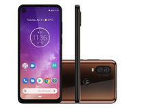 "Smartphone Motorola One Vision 128GB Bronze - 4G 4GB RAM 6,34"" Câm. Dupla + Câm. Selfie 25MP"