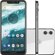 Smartphone Motorola One XT1941-3 64GB Tela 5,9 Dual Chip 4G Câmera 13MP+2MP 4GB Ram Branco -