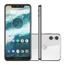 Smartphone Motorola One Xt1941 5.9 32gb 3gb Ram 4g Dual Sim Cam. 13mp e 2mp Frontal 8mp Branco Ediçao Limitada -