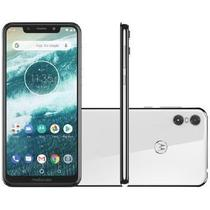 Smartphone Motorola One XT1941 Dual Chip Android 8.1 Tela 5.9 Octacore 2.0 GHz 64GB 4G BRANCO -