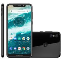 Smartphone Motorola One XT1941 Dual Chip Android 8.1 Tela 5.9 Octacore 2.0 GHz 64GB 4G PRETO
