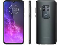 "Smartphone Motorola One Zoom 128GB Titanium 4G  - 4GB RAM 6,4"" Câm. Quadrupla + Câm. Selfie 25MP"