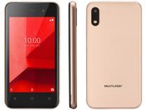 """Smartphone Multilaser E Lite 16GB Dourado 3G - Quad-Core 512MB RAM Tela 4"""" Câm. 5MP + Selfie 5MP"""