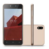 """Smartphone Multilaser E P9129 32GB Dual Chip Tela 5.0"""" Câmera 5MP Frontal 5MP Android 8.1 Dourado -"""