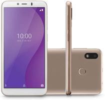 """Smartphone Multilaser G 32GB 1GB RAM Tela 5,5"""" Câmera Traseira 5MP Frontal de 5MP Bateria 2.700mAh Dourado -"""