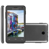 Smartphone Multilaser MS40 Preto, 4GB, Dual Chip, 3G, 5MP - P9007