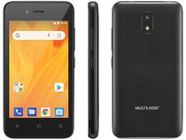 "Smartphone Multilaser MS40G 8GB Preto 3G - 512MB RAM 4"" Câm. 5MP +  Câm. Selfie 2MP"