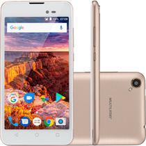 """Smartphone Multilaser MS50l 3g Quadcore 1gb Ram Tela 5"""" Dual Chip Android 7 Dourado P9052 -"""