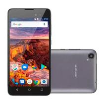 "Smartphone Multilaser MS50L, Dual Chip, 5"", 3G, WiFi, Android 7.0, 8GB - Grafite -"