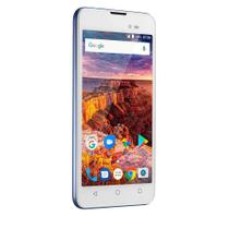 Smartphone Multilaser MS50L Quad Core Tela 5 8MP 8GB Dual Chip Azul/Branco P9054