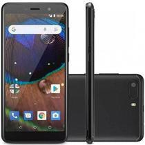 Smartphone multilaser ms50x 4g quad core 16gb de memoria interna tela 5,5 pol. dual chip android 8.1 preto - p9074 -
