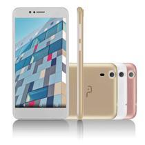 Smartphone Multilaser MS55 Colors Branco 5,5 Pol. Câmera 5.0 MP+8.0MP 3G Quad Core 8GB + 16GB SD Card 5.1 - NB233