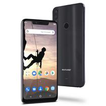 Smartphone Multilaser Ms80X 4G Android 8.1 Qualcomm 4Gb Ram E 64Gb Tela Fullhd 6,2 Pol. Câm Traseira 12Mp+5Mp Cam Frontal 16Mp Preto - NB743