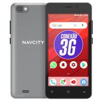 Smartphone navcity np-752 g cinza+película de vidro -
