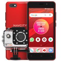 SMARTPHONE NAVCITY NP-752 G desbl. cor Vermelho+CAMERA ESP. NAVCITY NG 100 PLUS -