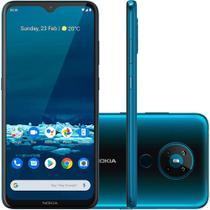 Smartphone Nokia 5.3 128GB Dual Chip Android 10 Tela 6.55 Octa Core Câmera 13MP Frontal 8MP-Ciano -