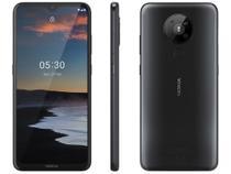 """Smartphone Nokia 5.3 128GB Preto 4G Octa-Core - 4GB RAM 6,55"""" Câm. Quádrupla + Selfie 8MP -"""