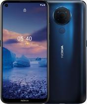 """Smartphone Nokia 5.4 128GB 4GB RAM Câmera Quádrupla 48.0MP Tela 6,39"""" - Azul -"""