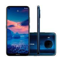 """Smartphone Nokia 5.4 128GB 4GB RAM Tela 6,39"""" Câmera Traseira Quádrupla 48MP + 5MP + 2MP + 2MP Frontal de 16MP Bateria de 4000mAh Azul -"""