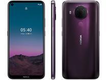 """Smartphone Nokia 5.4 128GB Roxo 4G Octa-Core - 4GB RAM Tela 6,39"""" Câm. Quádrupla + Selfie 16MP"""