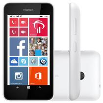 "Smartphone Nokia Lumia 530 Desbloqueado Tela 4"" 3G Dual Chip Branco + Capa Laranja -"