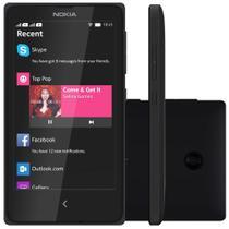 """Smartphone Nokia X Desbloqueado Tela 4"""" Dual Chip 3G Nokia X Platform 1.1 Preto -"""