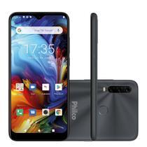 "Smartphone Philco HIT P10 128GB 4GB RAM Câmera Tripla + Frontal 8MP Tela 6,2"" - Cinza Espacial -"