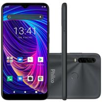 Smartphone Philco Hit P10 128GB Tela 6.2 Android 10.0 Cinza -