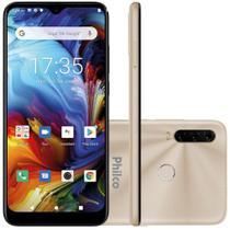 Smartphone Philco Hit P10 128GB Tela 6,2 Android 10 Dourado -