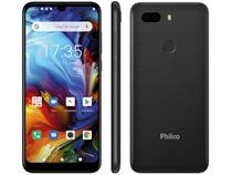 "Smartphone Philco PCS02P HIT MAX 128GB Preto - 4G 4GB RAM Tela 6"" Câm. Dupla + Selfie 8MP"