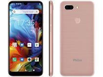 "Smartphone Philco PCS02RG HIT MAX 128GB Rose - 4G 4GB RAM Tela 6"" Câm. Dupla + Selfie 8MP"