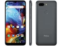 "Smartphone Philco PCS02SG HIT MAX 128GB Space Grey - 4G 4GB RAM Tela 6"" Câm. Dupla + Selfie 8MP"