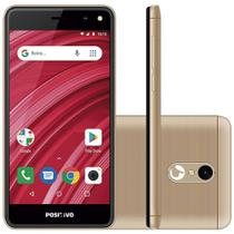 "Smartphone Positivo S509 Twist, Android Oreo, Dual chip, 5MP, 5"", 8GB, 3G - Dourado -"