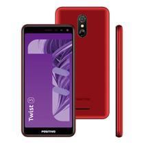 """Smartphone Positivo Twist 3 S513 32GB Dual Chip Tela 5.5"""" 3G WiFi Câmera 8MP Vermelho -"""