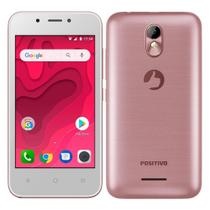 "Smartphone Positivo Twist Mini Dual Chip, Rosa, Tela 4"", 3G+WiFi, Android Oreo, 5MP, 8GB -"