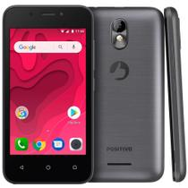 "Smartphone Positivo Twist Mini S-431, Dual Chip, Android 8, 4"", 8GB, 3G, 5MP - Grafite -"